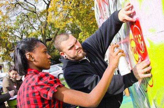 Built unexpected relationships between renters, homeowners, artists, youth, and service providers, increasing community pride and social responsibility.