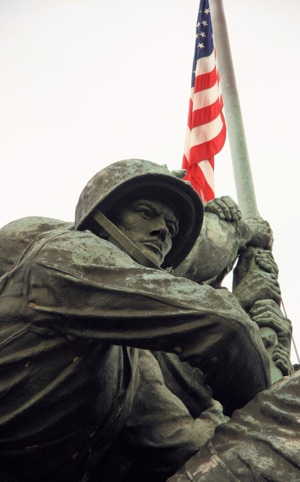 It took him nine years to complete the statue. The memorial honors all members of the United States Marine Corps who died in battle since the American Revolution.