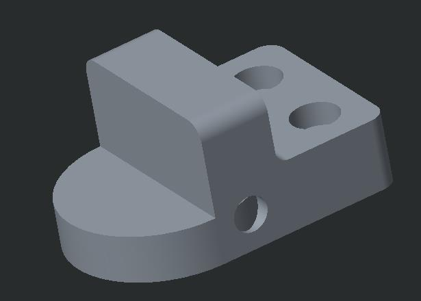 d. Green Check > Set Extrude distance to 1.00 > Make sure the material is adding up into the part.