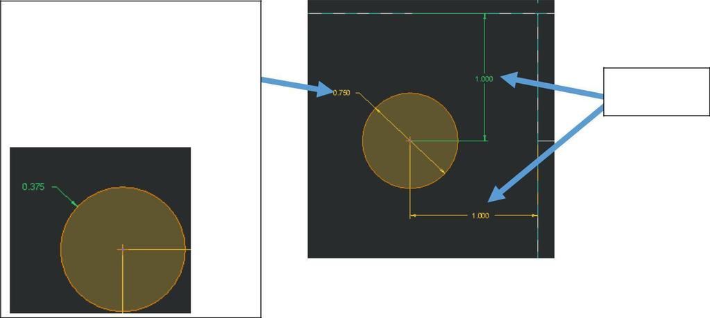 4. Reference: Dimension Values for Arced Shapes a. Holes will need 3 Dimensions i.