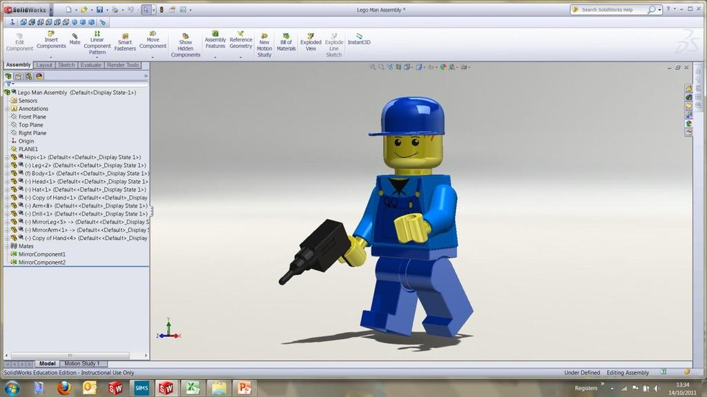 Working with part files 8mm At first glance the Lego man looks