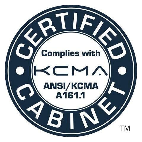 OUR CERTIFICATIONS KCMA (Kitchen Cabinet Manufacturers Association) CERTIFICATION All of Choice Cabinet door styles are certified by the KCMA and comply with the requirements of NSI/KCMA A16