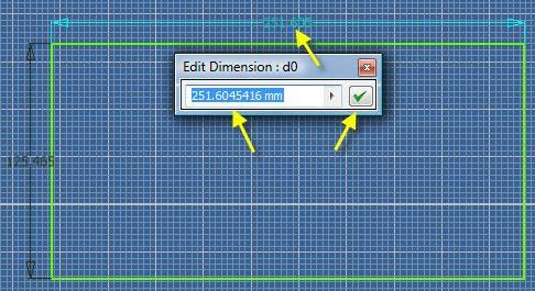 16.15 Double click on any dimension (d0