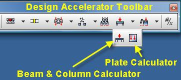 5 Click on the Beam & Column Calculator icon on the Design Accelerator