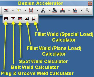 Selection. 3.10 WELD CALCULATOR 3.