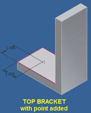 Note the assembly of two brackets has been rotated