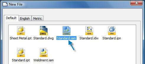 File > Standard.iam, as shown above.