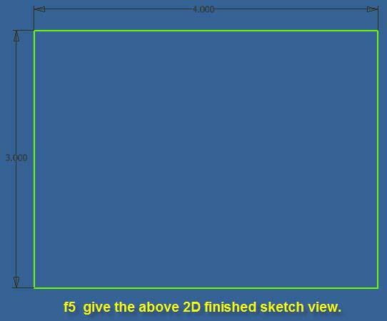 10.16 The f5 key gives the 2D finished