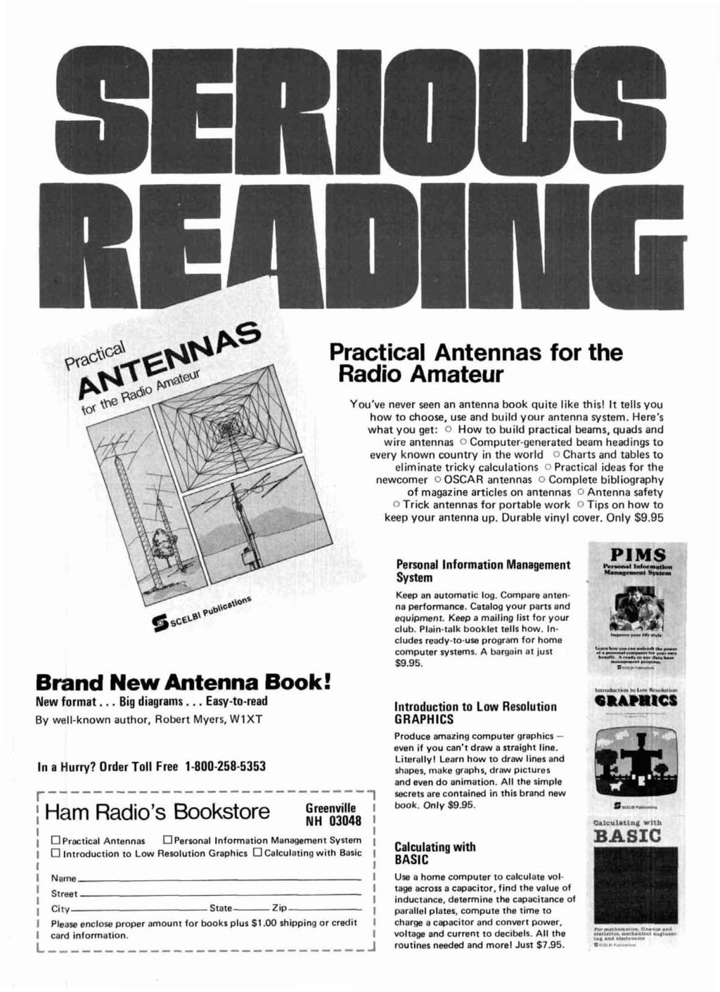 Practical Antennas for the Radio Amateur You've never seen an antenna book quite like thisl It tells you how to choose, use and build your antenna system.