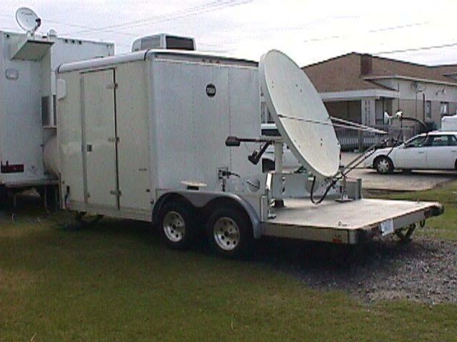 Portable Satellite Antenna Trailer Pulled by MEOV