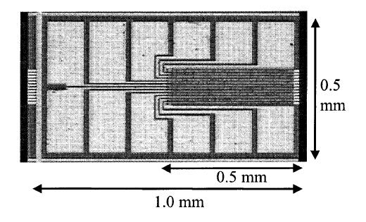Figure 6-9 Fully processed laser chip.
