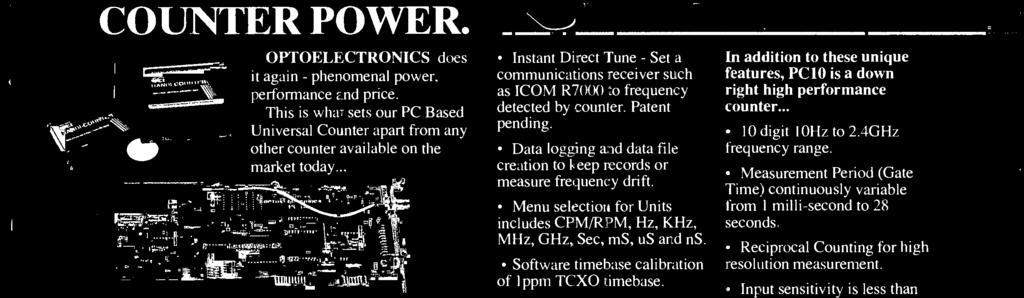 Instant Direct Tune - Set a communications receiver such as ICOM R7000 to frequency detected by