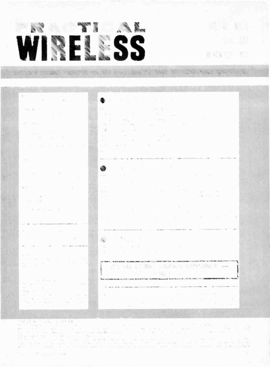 PRACTICAL VOL 51 NO.7 WIRELESS ISSUE 825 NOVEMBER 1975 BRITAIN'S PREMIER MAGAZINE FOR THE DO-IT-YOURSELF RADIO AND ELECTRONICS CONSTRUCTOR EDITOR Lionel E.