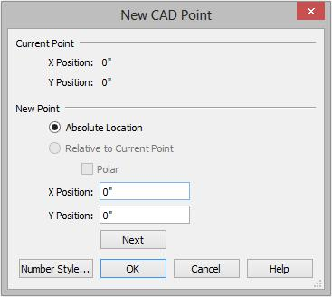 Chief Architect X9 User s Guide To create a plot plan polyline 1. Select CAD> Points> Input Point to open the New CAD Point dialog. See Input Point on page 1081 of the Reference Manual. 2.