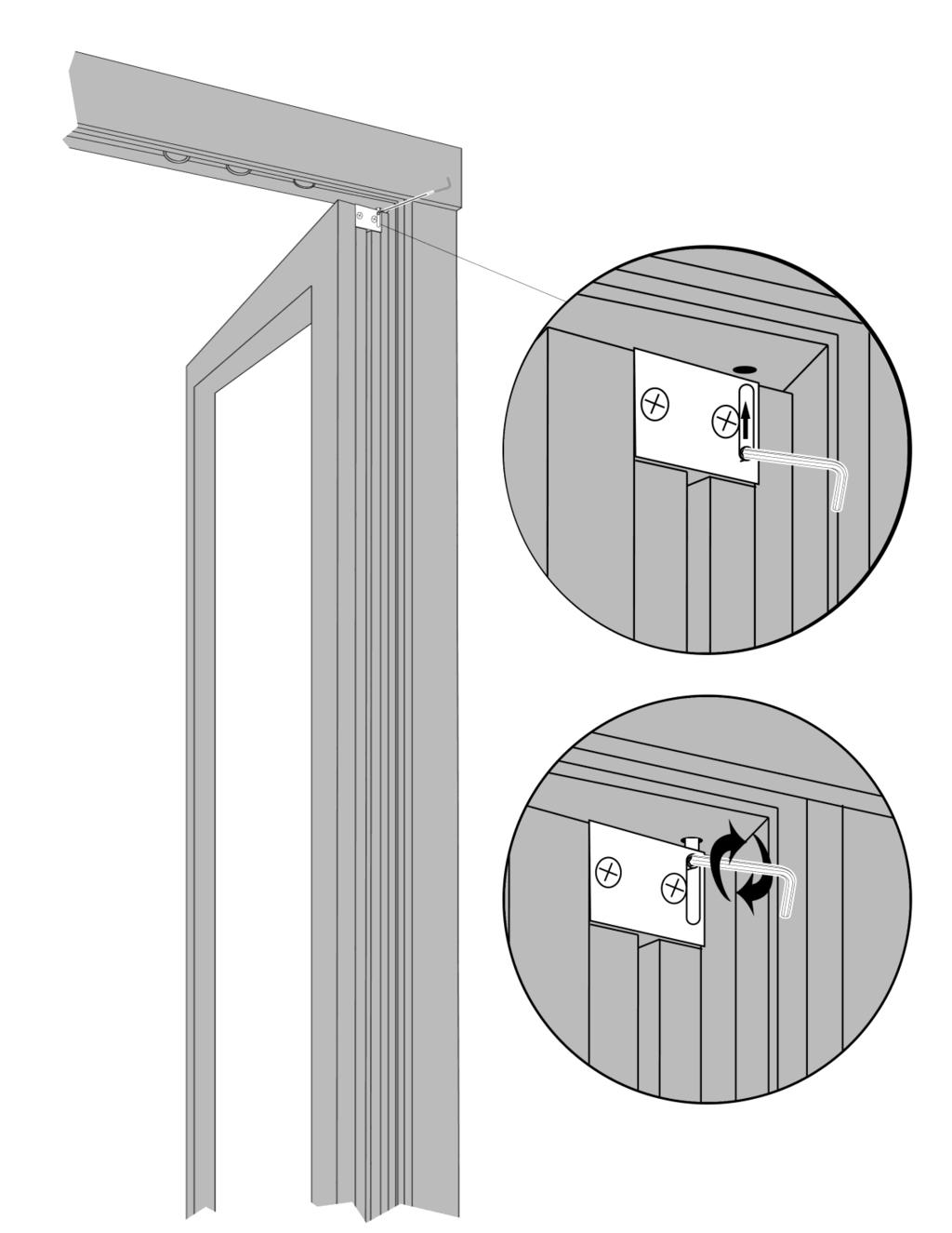 Inserting Active Swing Door Top Hinge Pin 11 1. Unscrew & Pull out the Pivot Block. 2. Place door in bottom Pivot 3.