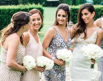 alumninews bridal party, including Neda s sister and maid of honor, Negin Navab 12, as well as Neda s undergraduate roommates, Amanda Rosencrans and Lauren Abbott.