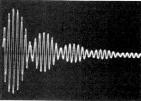 "But the corresponding tone produced by rectifier receivers was too low to be heard through ""static"" interference. (Fig."