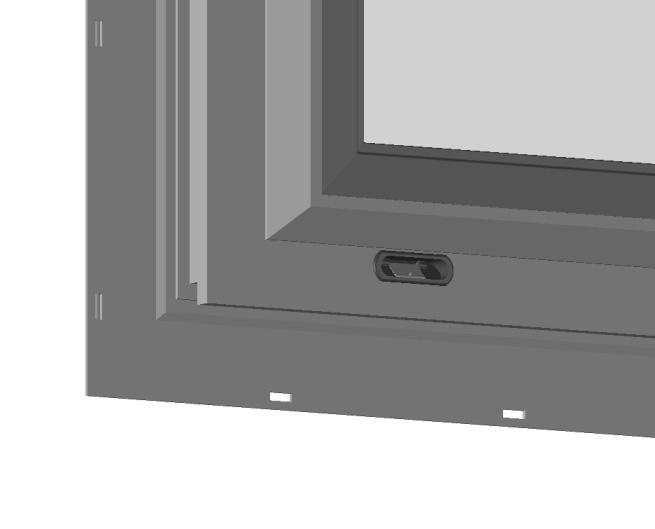 The length of the frame head flashing is equal to the window width plus the width of the vertical flashing on each side.