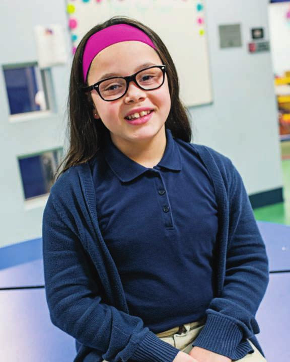 Mia, 9, is a member of the Jordan Club in Chelsea and participated in Empathy Through Understanding.