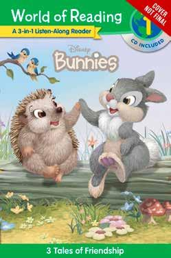 World of Reading: Disney Bunnies 3-in-1 Listen-Along Reader, Level 1 3 Hopping Tales with CD This paperback bind-up of three World of Reading Level 1 titles with listen-along CD will delight young