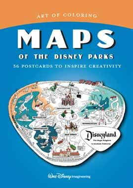 Art of Coloring: Maps of the Disney Parks 36 Postcards to Inspire Creativity Written by Walt Disney Imagineering The hit Art of Coloring series is now available in postcards themed to the Disney park