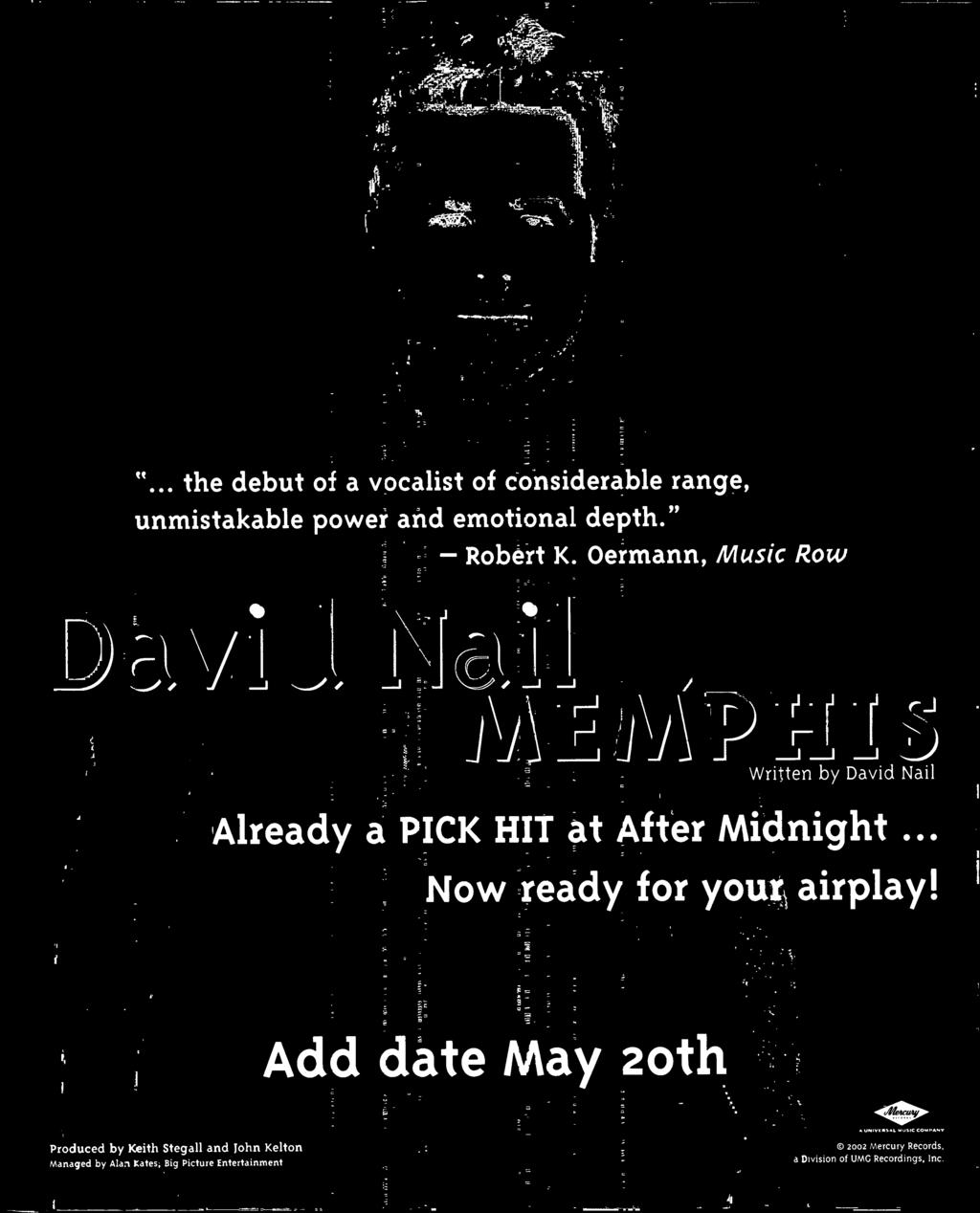 Add date May oth Produced by Keith Stegall and John Kelton vanaged