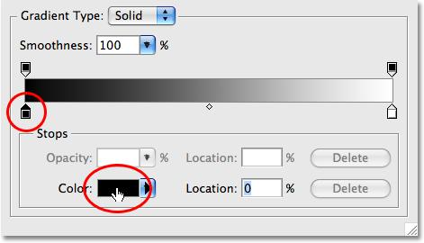 icon, then select Gradient Overlay. This brings up Photoshop s Layer Style dialog box set to the Gradient Overlay options in the middle column.