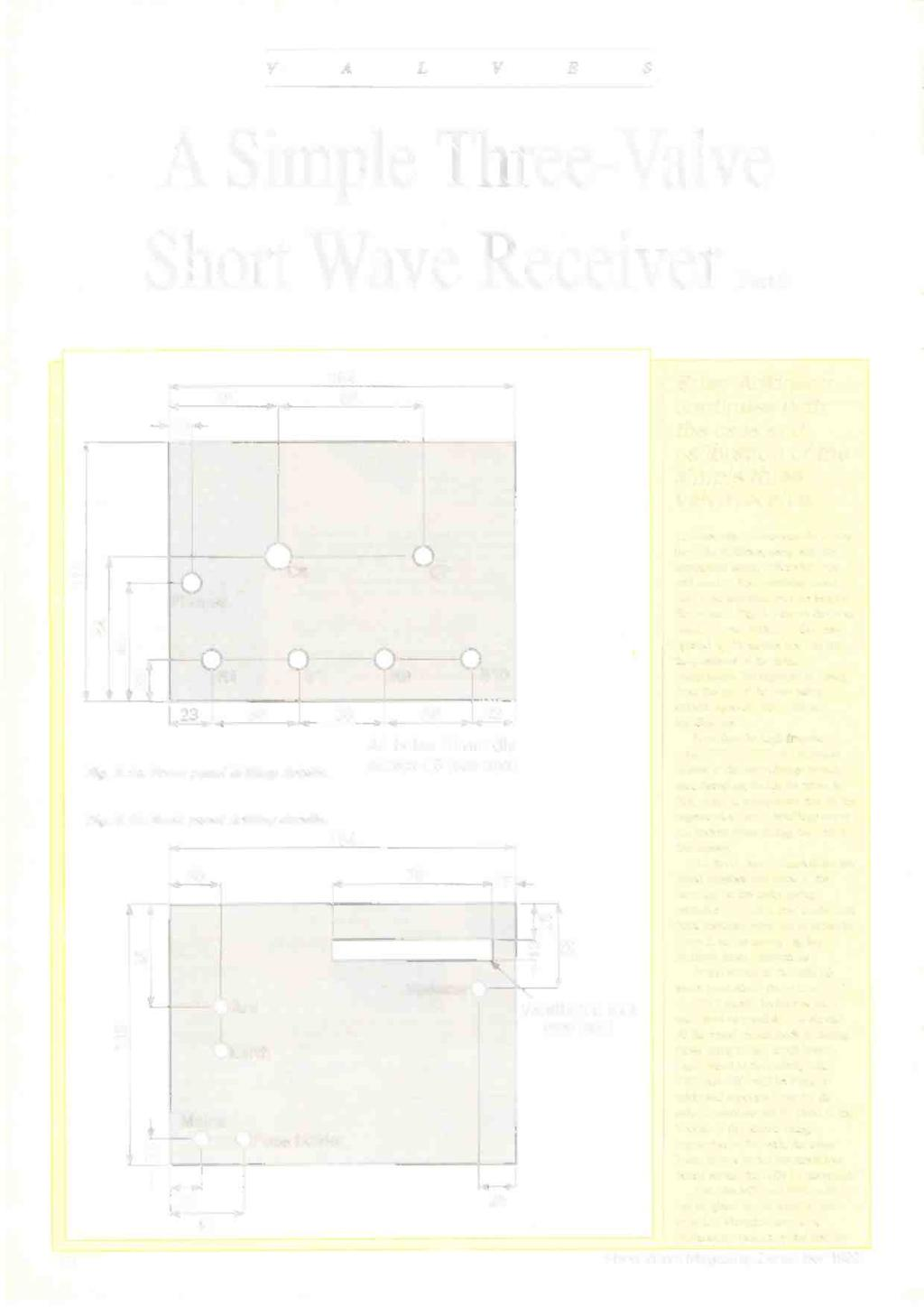 Inside This Issue Life After Marco Polo Pdf 1954 Case Dc 3 Tractor Starter Wiring Diagram V A L E Simple Three Valve Short Wave Receiver Pe 10 154 48 68 Brian Adkinson