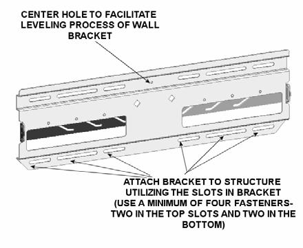 Using a small nail or screw (not provided) in the center hole, lightly hold wall plate at the mounting location (see Figure 9). 3.