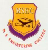 M S Engineering College (ISO 9001-2002, Affiliated to VTU, Belgaum) International Airport Road,NavarathaAgrahara, Sadahlli P.