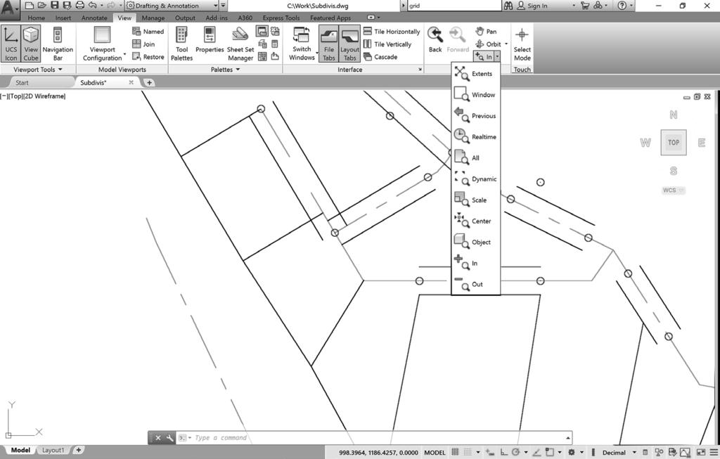 78 Tutorial 2 BASIC CONSTRUCTION TECHNIQUES Figure 2.31 Next you will zoom out, using the Zoom Out button from the flyout.