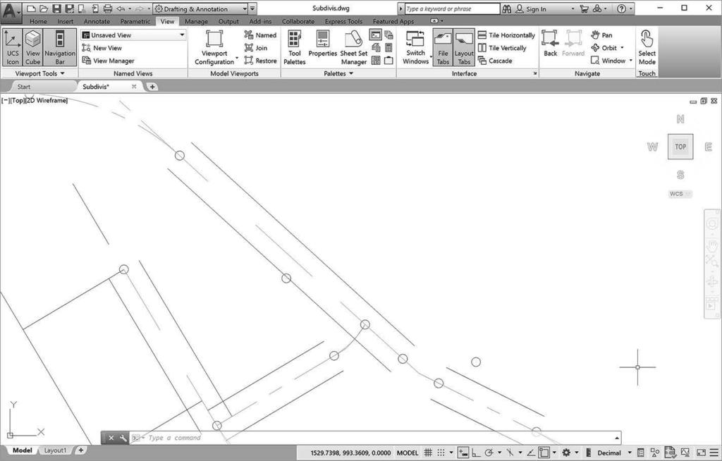 Window To use Zoom Window, create a window around the area that you want to enlarge to fill the screen. This lets you quickly enlarge the portion of the drawing that you are interested in.
