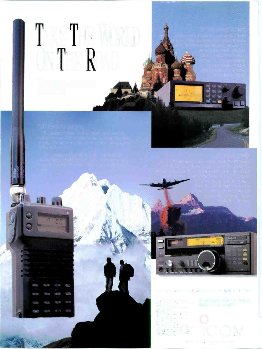 A TAKE THE WORLD O\ THE ROAD WORLDWIDE RECEIVERS FROM ICOM IC -R100 MOBILE.