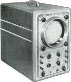 Modern, efficient, Sylvania Oscilloscopes, Type 132 (7-inch screen) above and Type 131 (3 -inch screen), are ac operated general purpose cathode ray instruments used to study waveforms, measure