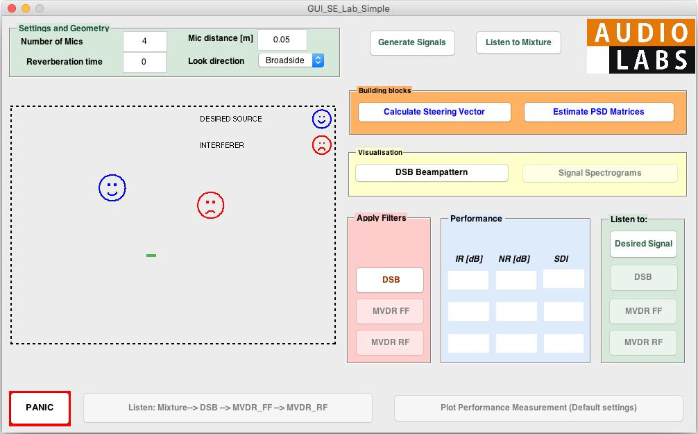 Figure 3: GUI. 2 Experimental setup A graphical user interface (GUI) is provided for the experiments in this module. A snapshot of the GUI is shown in Figure 3.