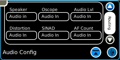 Basic Receiver Test On the Freq Select tile, press the Fast Stack icon until the Audio Config tile is revealed.