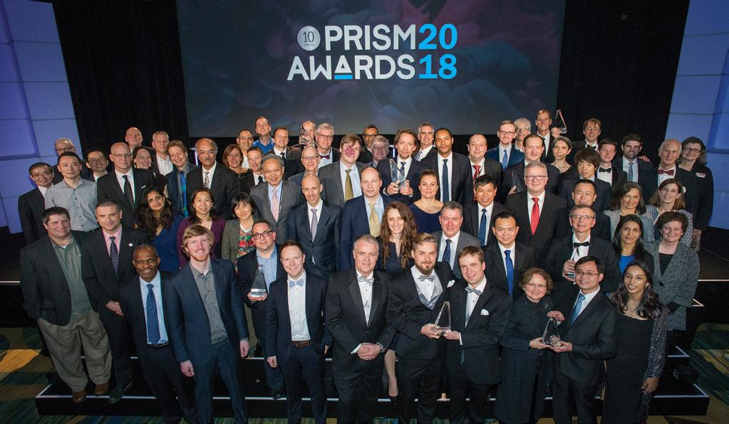 10 TH Annual Prism Awards For Photonics Innovation Congratulations to the 2018 Winners Optics & Optomechanical Components Environmental Monitoring Lasers Medical Diagnostics & Therapeutics AdlOptica