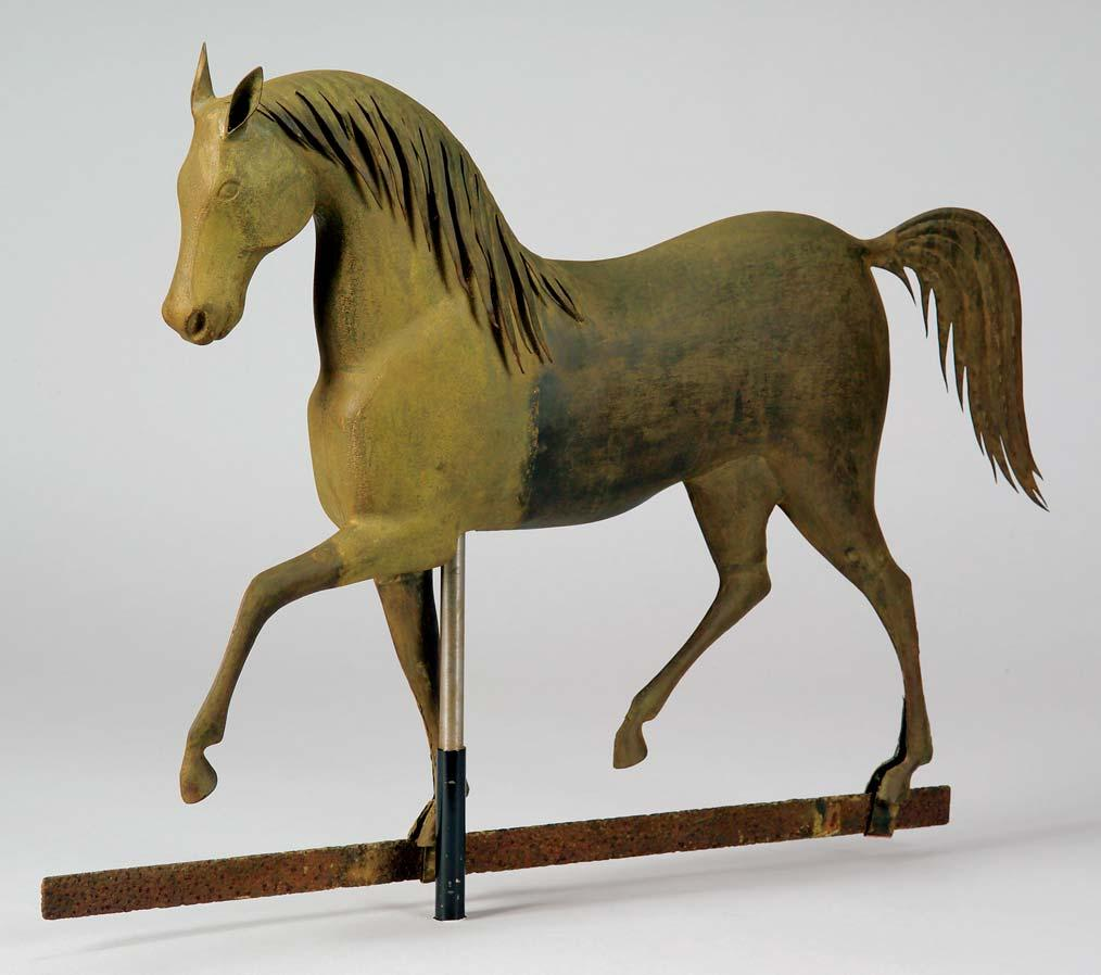 111 111. Cast Zinc and Molded Copper Index Horse Weather Vane, attributed to J. Howard & Co., West Bridgewater, Massachusetts, c.