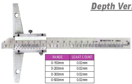 02mm Packing : Plastic / Aluminium Box 009 Dial Vernier Calipers DVC02 4 Ways Measurement, Inside, Outside, Depth & Step Yellow Dial with dark black marking for glare free reading With adjustable