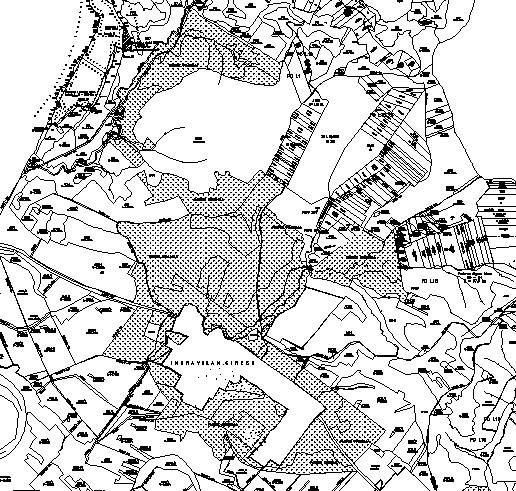 Figure 4 Cadastral plan obtained after GPS survey scale 1:5 000 The points coordinated were verified by overexposure on othofotoplan and the admitted tolerance was achieved (fig.5). Figure 5.