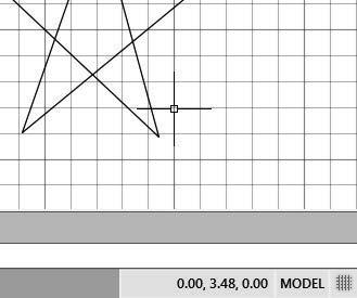 AutoCAD Fundamentals 1-11 GRID ON 1. Left-click the GRID button in the Status Bar to turn ON the GRID DISPLAY option. (Notice in the command prompt area, the message <Grid on> is also displayed.) 2.