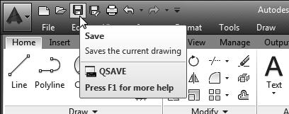 Note the default file type is DWG, which is the standard AutoCAD drawing format.