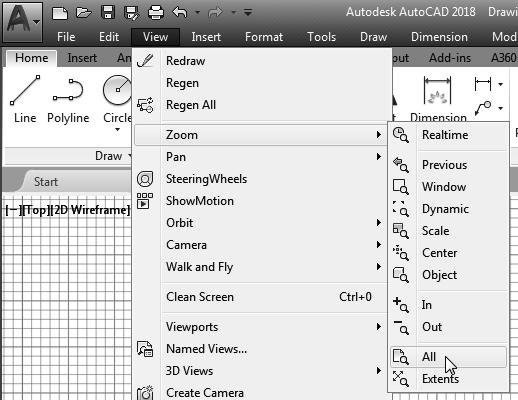 AutoCAD Fundamentals 1-7 On your own, move the graphics cursor near the upper-right corner inside the drawing area and note that the drawing area is unchanged.