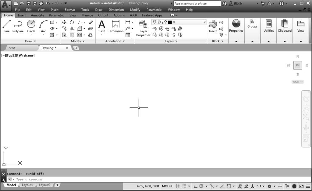 Inside the Menu Bar area select: [View] [Zoom] [All] The Zoom All command will adjust the display so that all objects in the drawing are displayed to be as large as possible.