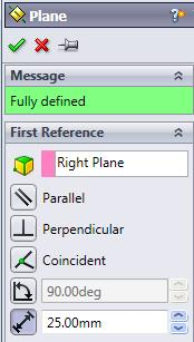 Define a plane parallel to the