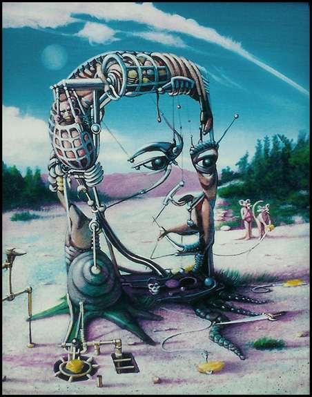 Surrealism style uses visual imagery from the subconscious mind to create art without the