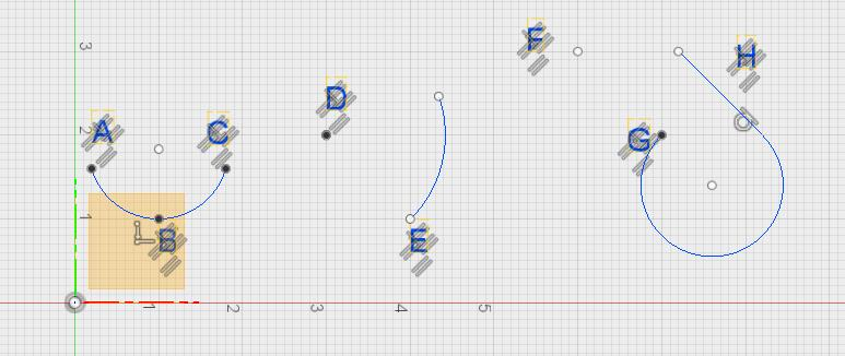 Try it: Creating Arcs 3. Open 2. Simple Sketching (If not already open) 5. Double-Click the Arc sketch to edit it 6. If you cannot see anything in the sketch, pick the lightbulb 7.