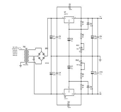 The English Proceedings of the College of Instrumentation & Electrical Engineering, Jilin University, in the First Half of 215 picture2 power module circuit diagram Positive power Negative supply