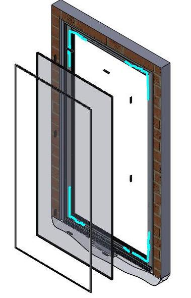 .1 68 PIVOT DOOR 3400P V. Glazing Instructions per Glass (Skip this if panel / glass shipped as installed).