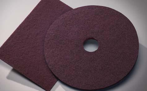 "SPECIALTY PADS SPECIALTY PADS Conditioning Pads These 1/4"" thick pads are manufactured with the finest fibers, resins and abrasives to allow multiple levels of surface blending of waterbased"